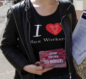 Sex worker rally (Photo by Tara Israel)